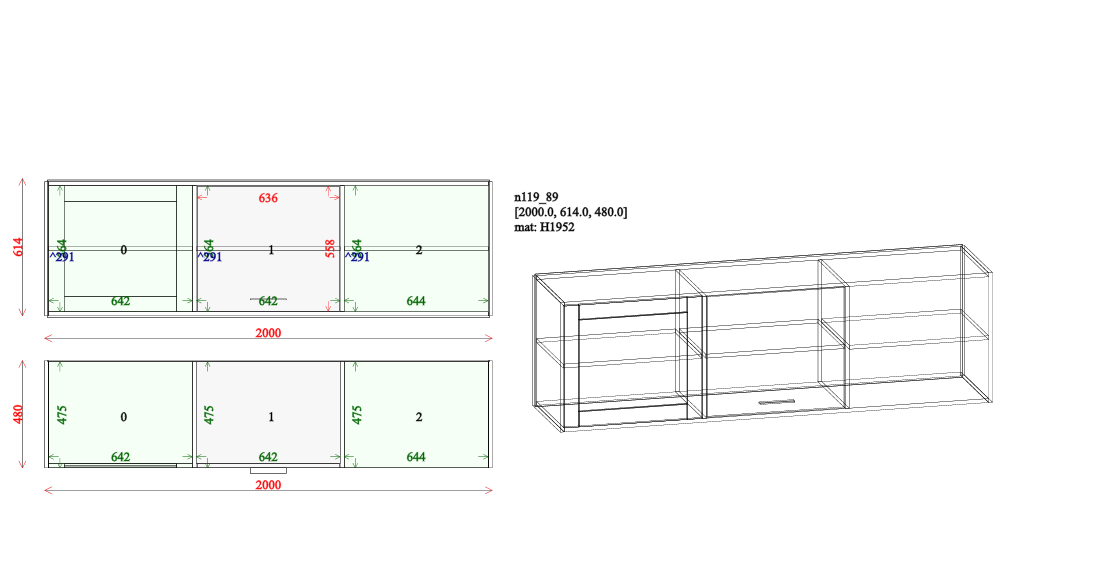 this shows upper cabinet drawing from pripravto