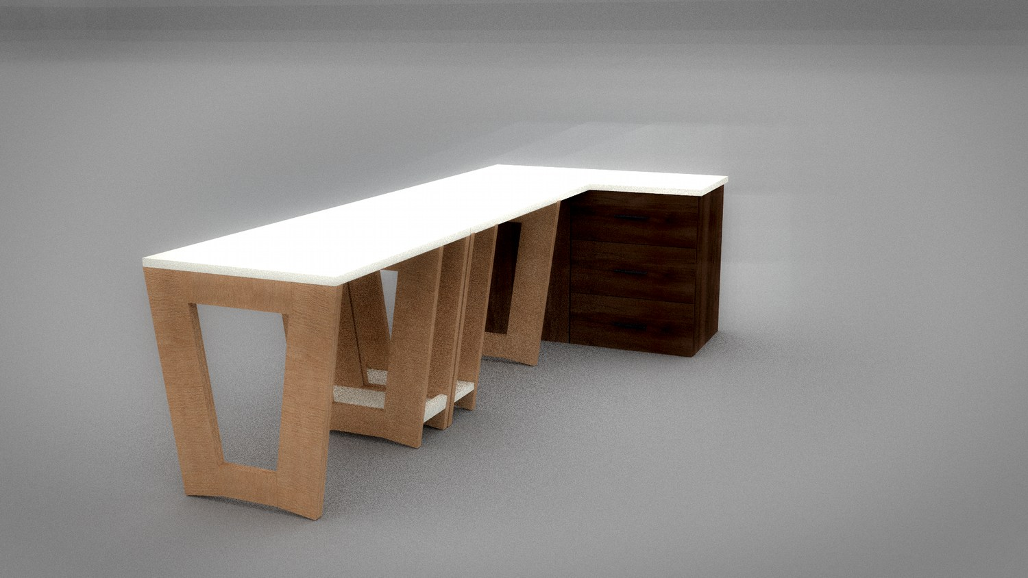 School table vizualization with oc and Blender